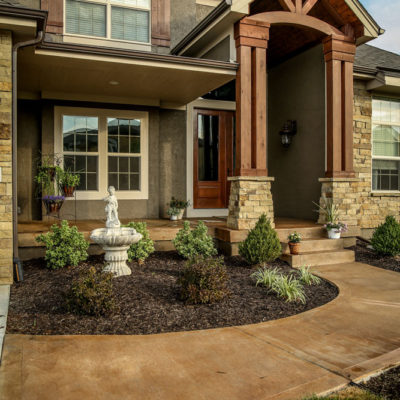 Custom Built Home With Water Feature