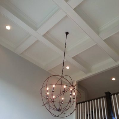 Custom Chandelier And Ceiling Molding