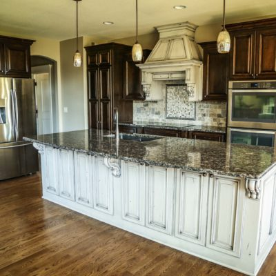 Custom Paneled Open Kitchen Island