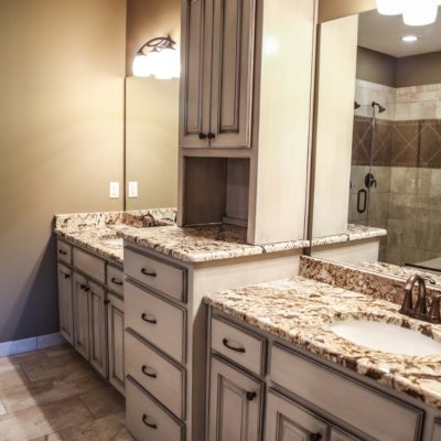 Custom White Bathroom Cabinets