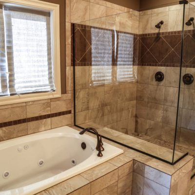 Custom Double Shower And Jet Tub