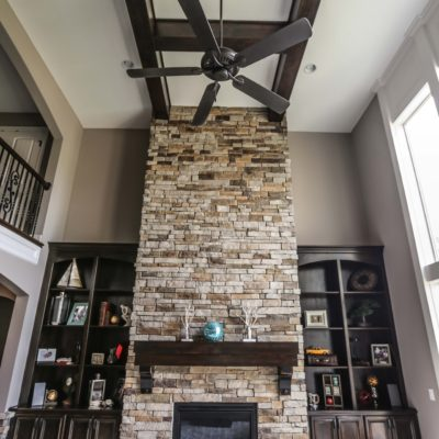 Custom Open Living Room Fireplace Fan