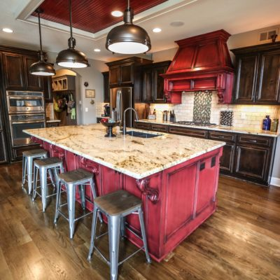 Custom Kitchen Island With Stools