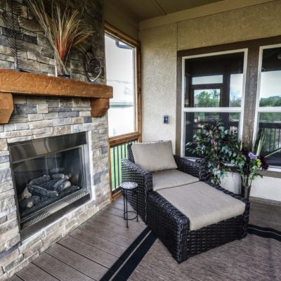 Custom Enclosed Patio & Fireplace