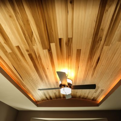 Finished Bedroom Ceiling Design Close Up