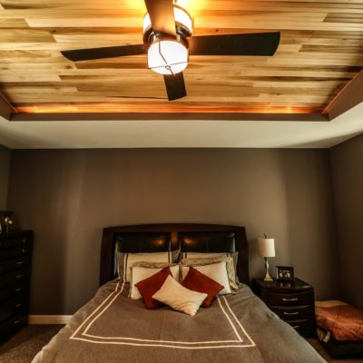 Finished Bedroom Ceiling Design Example