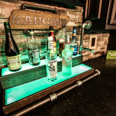 Custom Man Cave Bar Example