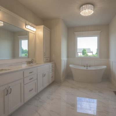 marble tile custom build home